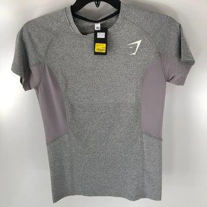 Gray lightweight/mesh workout shirt